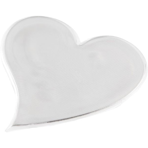 Reflexní samolepka srdce velké - Bílá