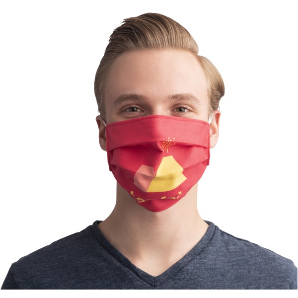 Sublimation reuseable mask with elastic bands