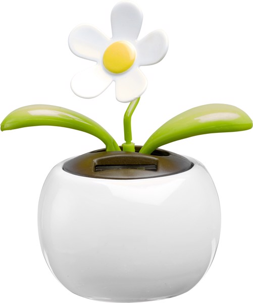 ABS and PP solar flower - White