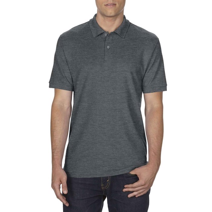 Men's Polo Shirt 207/220 g/m Dryblend Double Pique 75800 - Dark Heather / L