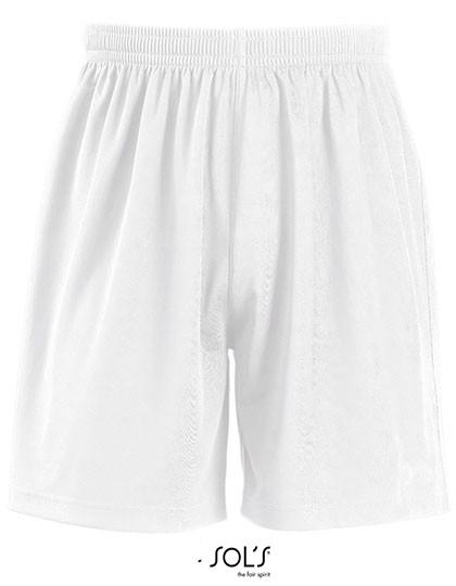 Kids` Basic Shorts San Siro 2 - White / 12 years (152)