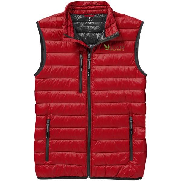 Lehká péřová vesta Fairview - Červená s efektem námrazy / XS