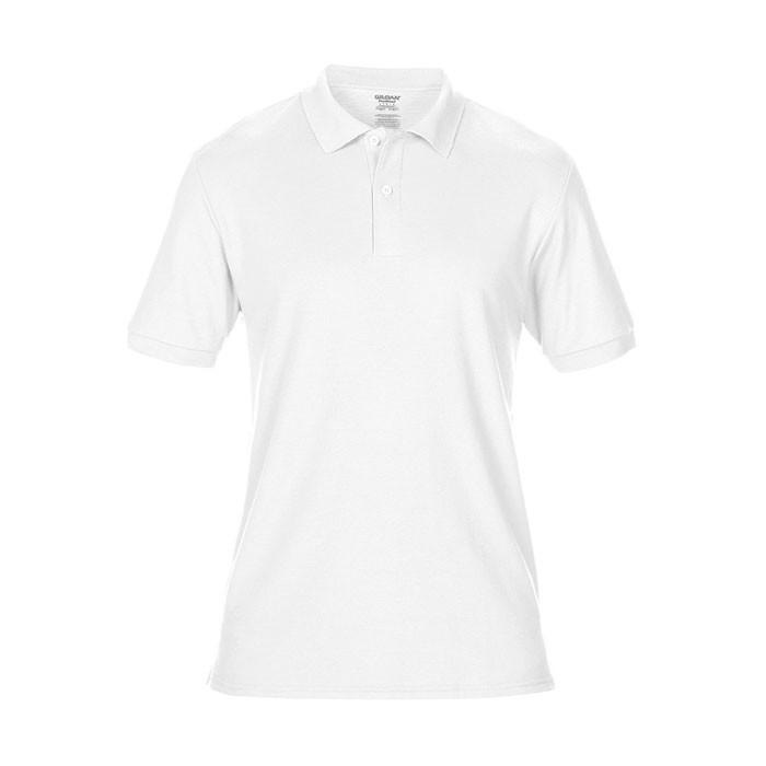 Męska Koszulka polo 207g/m2 Dryblend Double Pique 75800 - Biały / S