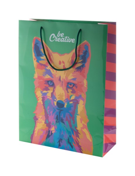 Custom Made Paper Shopping Bag CreaShop L, Large - Multicolour