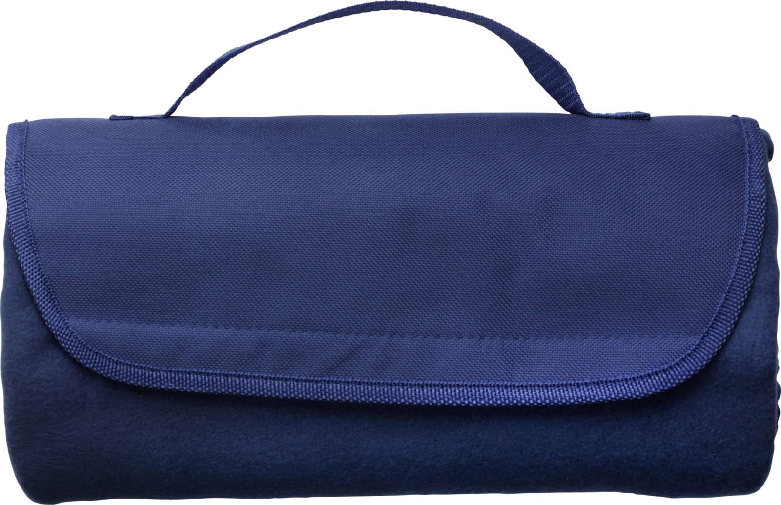 Fleece (165 g/m²) travel blanket - Blue