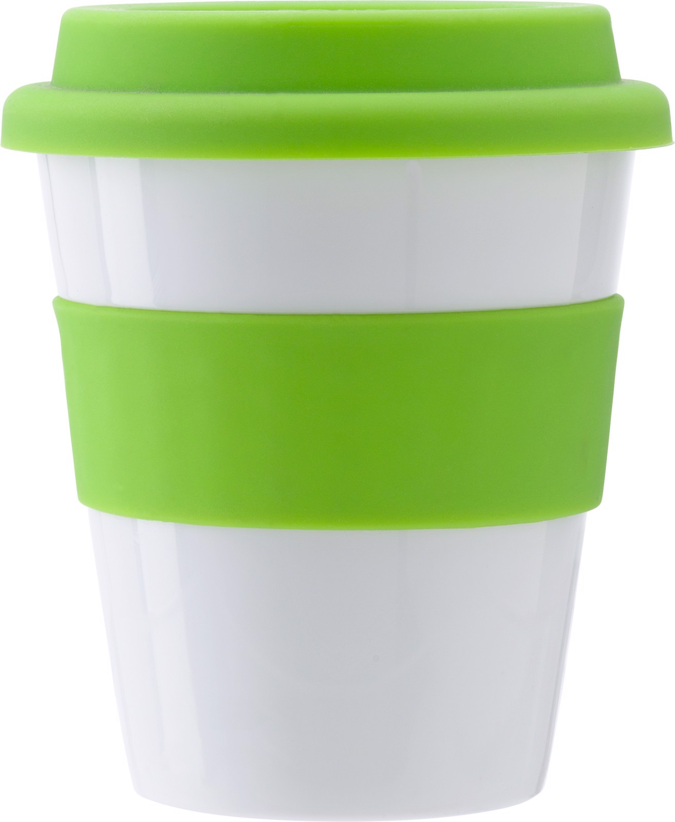 PP plastic drinking mug - Lime