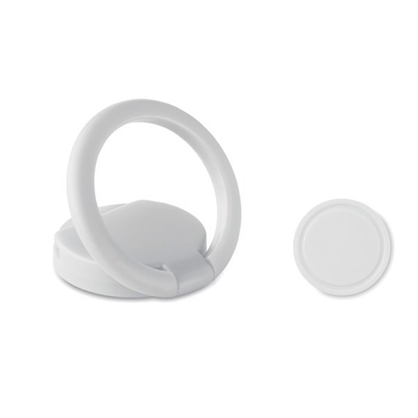 Ring phone holder with token - White