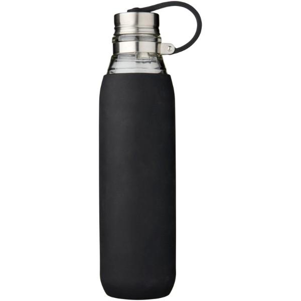 Skleněná sportovní láhev Oasis 650 ml - Černá
