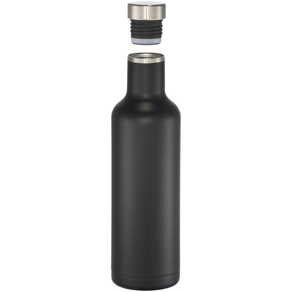 Butelka Pinto z izolacją próżniowo miedzianą - Czarny