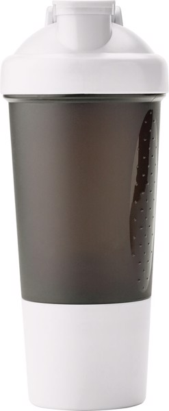 PE plastic protein shaker - White