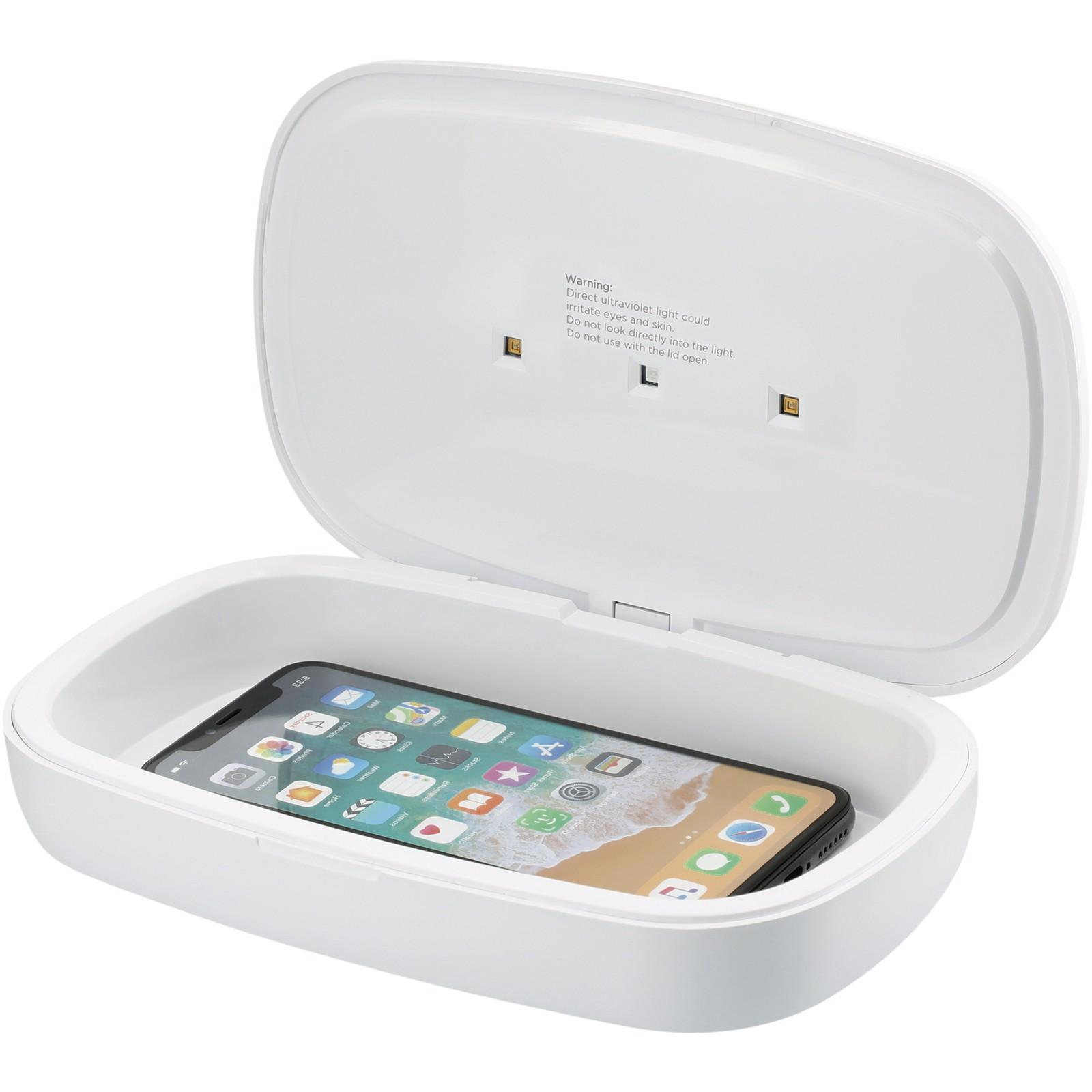 Capsule UV dezinfekční přístroj pro smartphone s 5W bezdrátovou nabíjecí podložkou