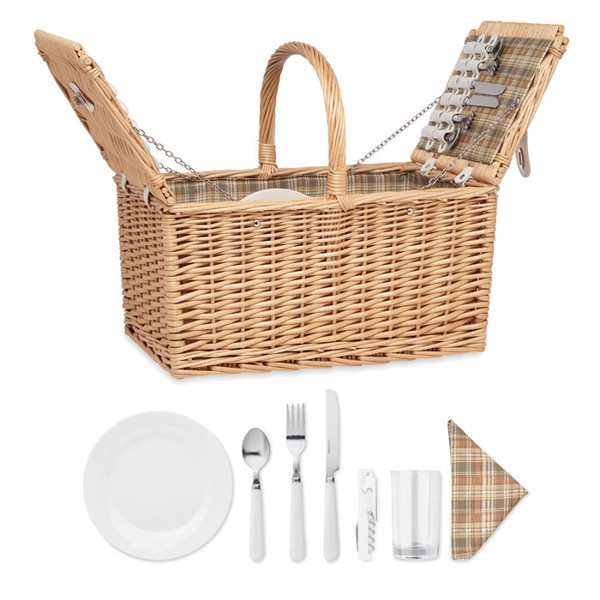 Wicker picnic basket 4 people Mimbre Plus