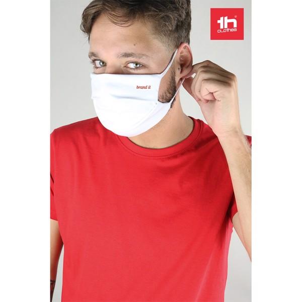 THC ATLANTIDA. Reusable textile mask - White