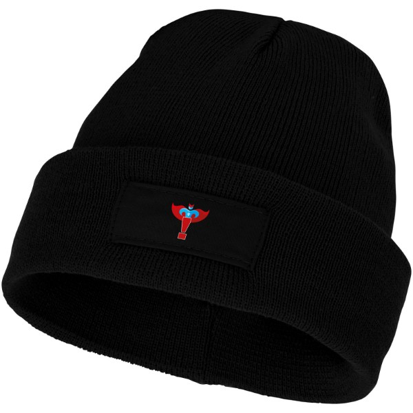 Boreas beanie with patch - Solid Black