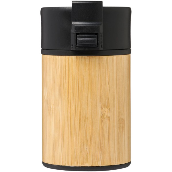 "Vaso de 200 ml en bambú con aislamiento de cobre al vacío ""Arca"" - Negro intenso"