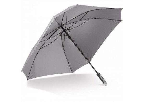 """Deluxe 27"""" square umbrella auto open - Grey"""