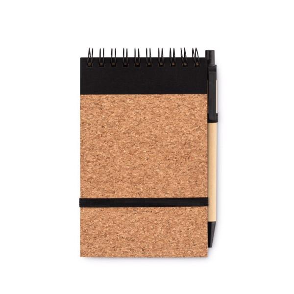 Notes A6, copertă plută,  pix. Sonoracork