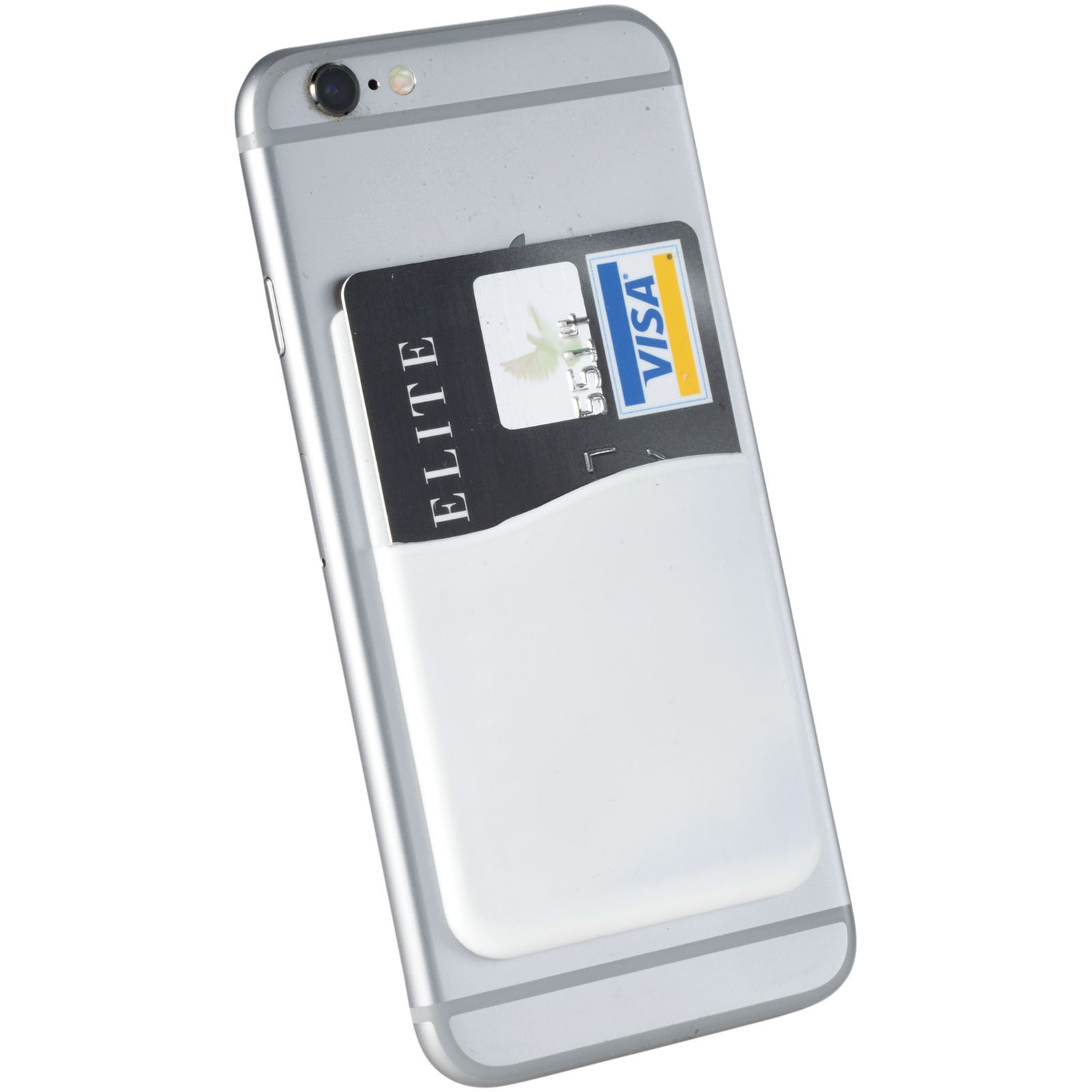 Slim card wallet accessory for smartphones - White