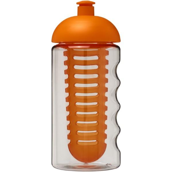 Sportovní láhev s infuzérem a kupolovitýmvíčkem H2O Bop® 500 ml - Průhledná / 0ranžová