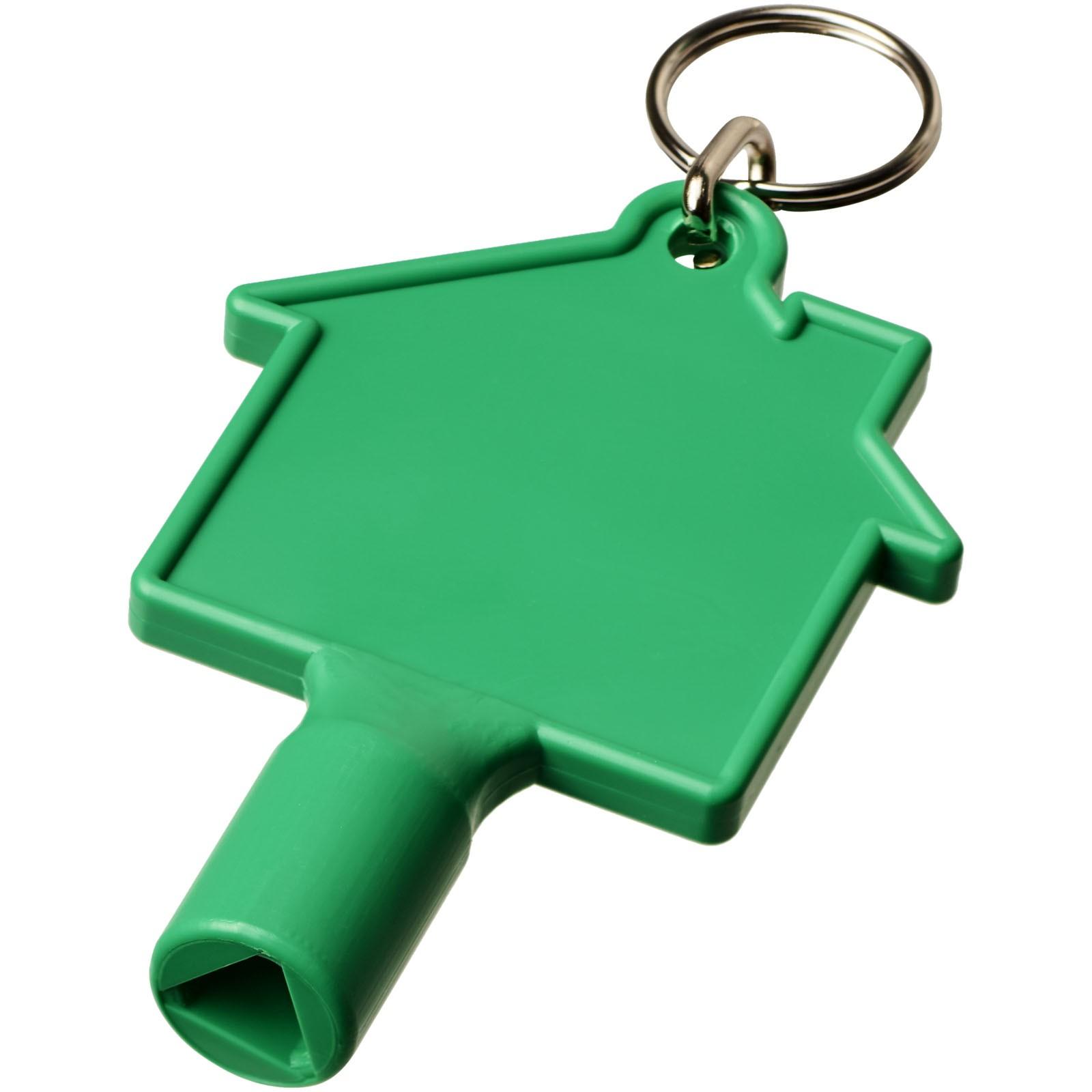 Klíčenkový klíč na měřidla Maximilian ve tvaru domu - Zelená