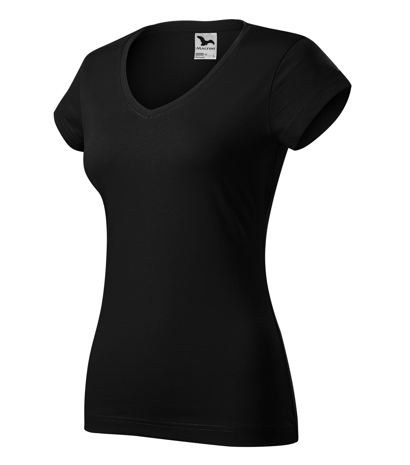 Tričko dámské Malfini Fit V-neck - Černá / L