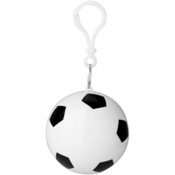Xina Regenponcho in Fußball-Hülle mit Schlüsselanhänger