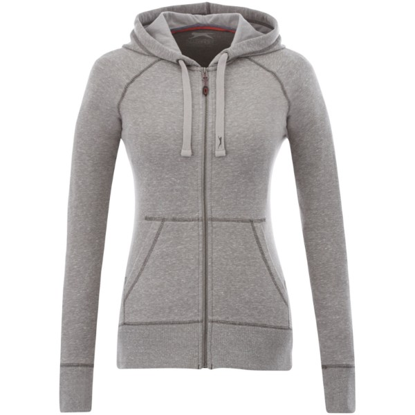 Groundie full zip ladies hoodie - Grey melange / XS