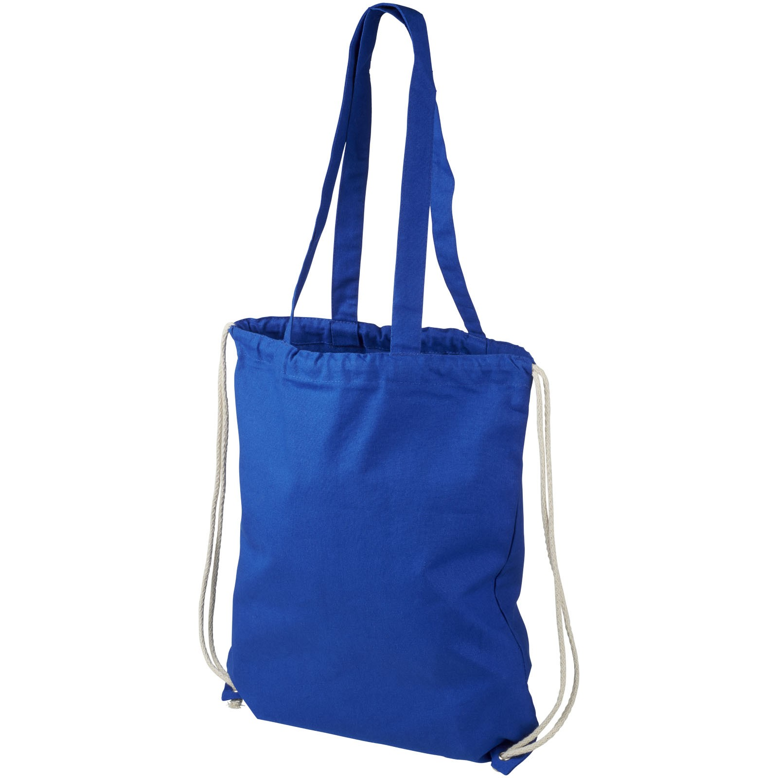 Eliza 240 g/m² cotton drawstring backpack - Royal blue