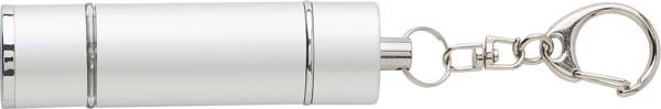 2-in-1 Schlüsselanhänger 'Flash' aus Kunststoff - Silver