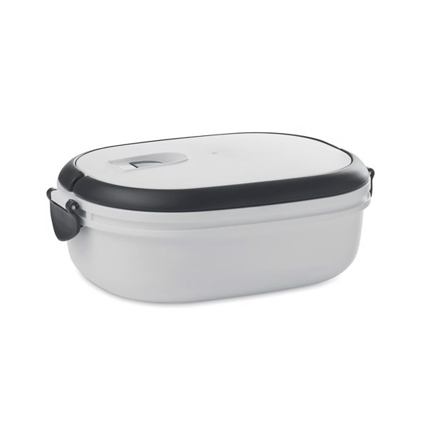 PP lunch box with air tight lid Lux Lunch - White