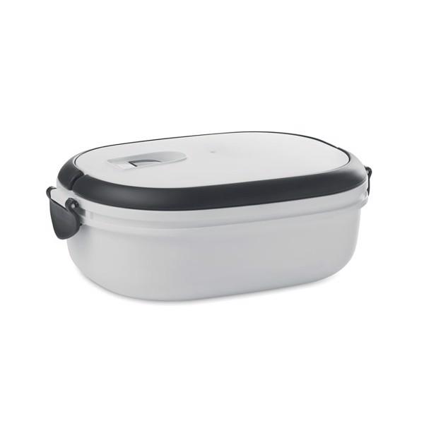 Fiambrera cierre hermetico Lux Lunch - blanco
