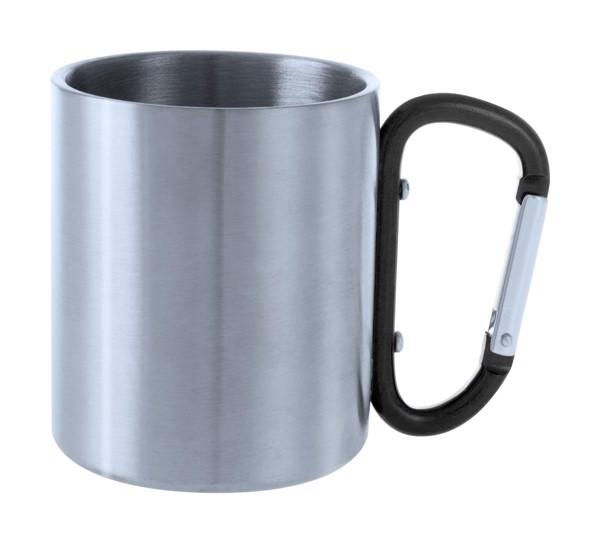 Cană Metalică Bastic - Negru / Argintiu