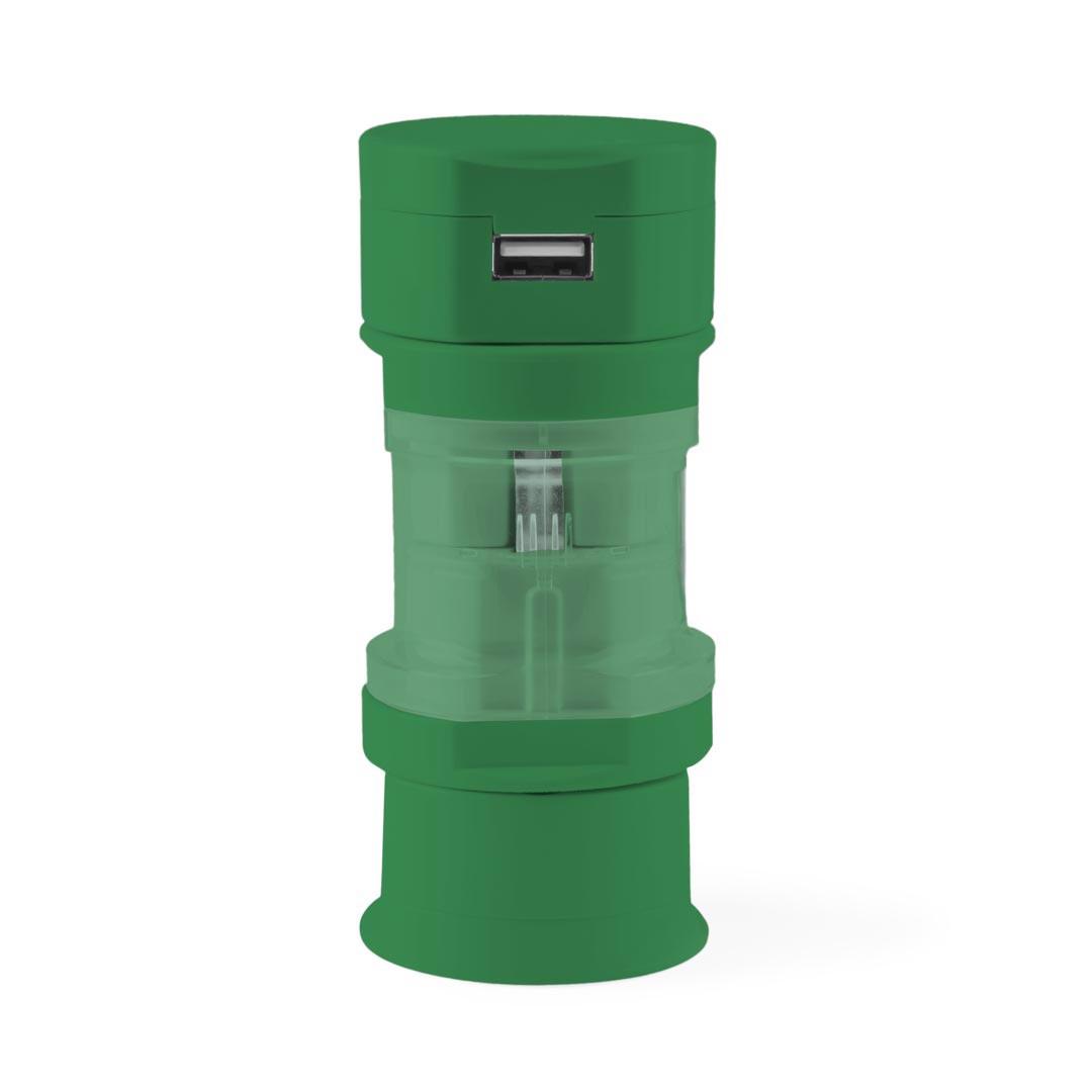 Adaptador Tomadas Tribox - Verde
