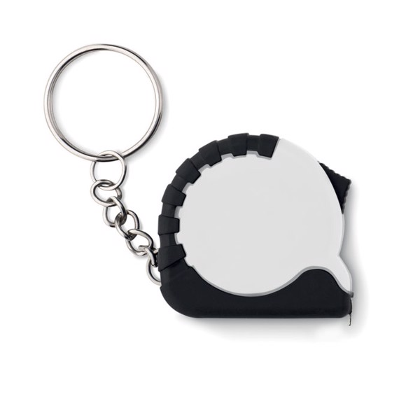 Small measuring tape key ring Ito - White