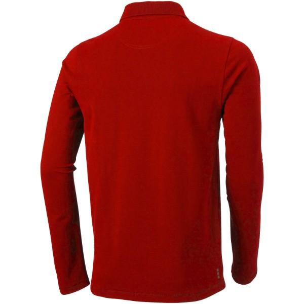 Oakville long sleeve men's polo - Red / L