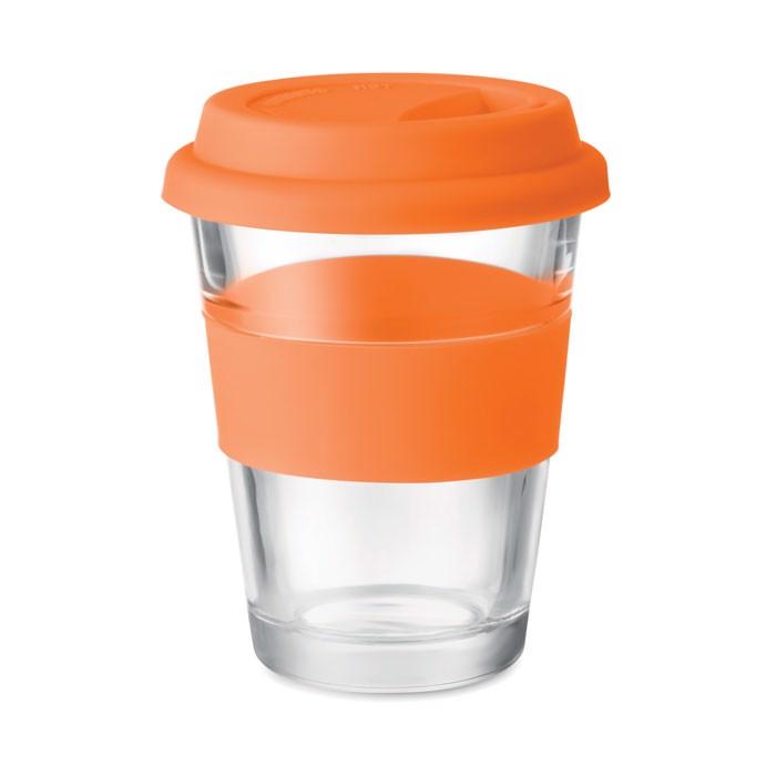 Kubek szklany 350 ml Astoglass - pomarańczowy