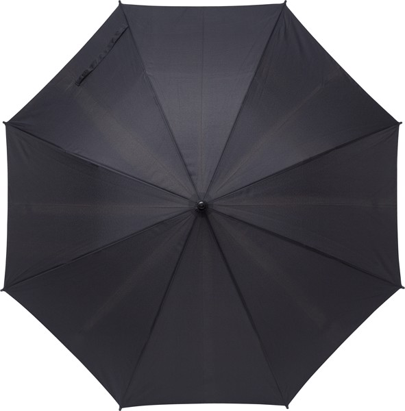 RPET pongee (190T) umbrella - Black