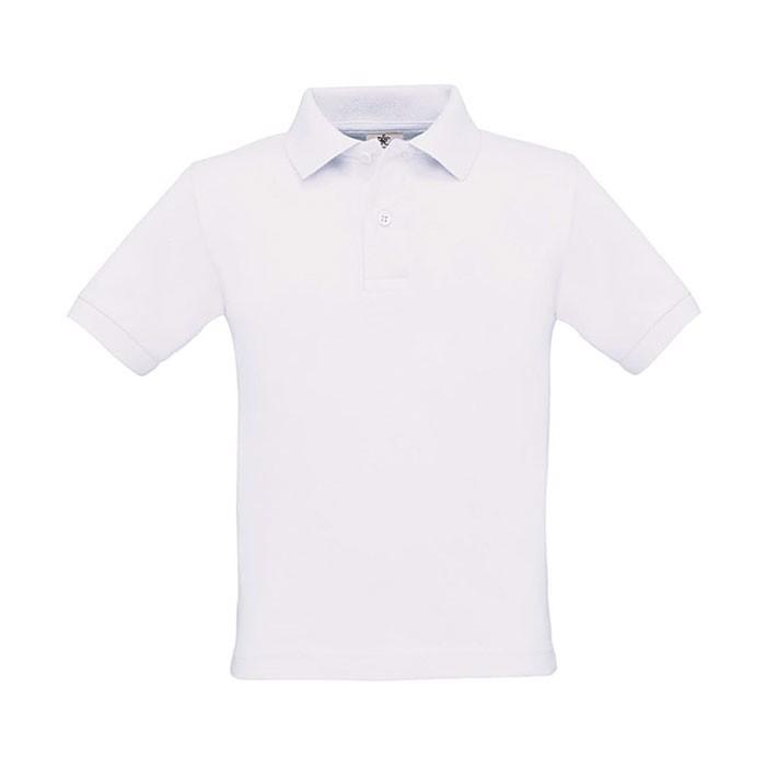 Gyerek pólóing 180 g/m2 Safran Kids Polo Pk486 - White / S