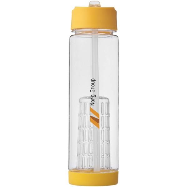 """Botella de Tritan™ de 740 ml con infusor""""Tutti-frutti"""" - Transparente / Amarillo"""