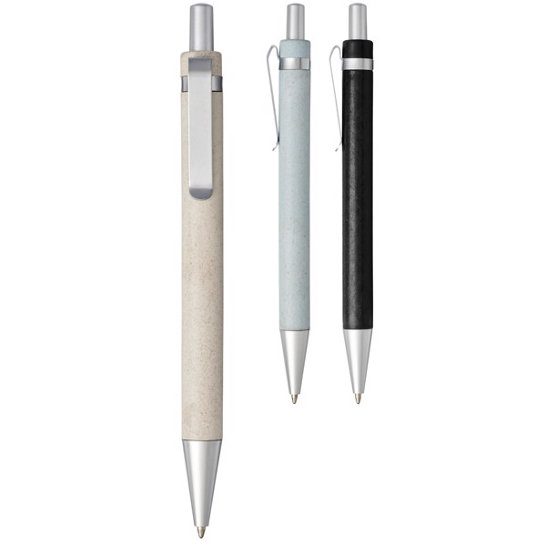 Tidore wheat straw click action ballpoint pen - Natural