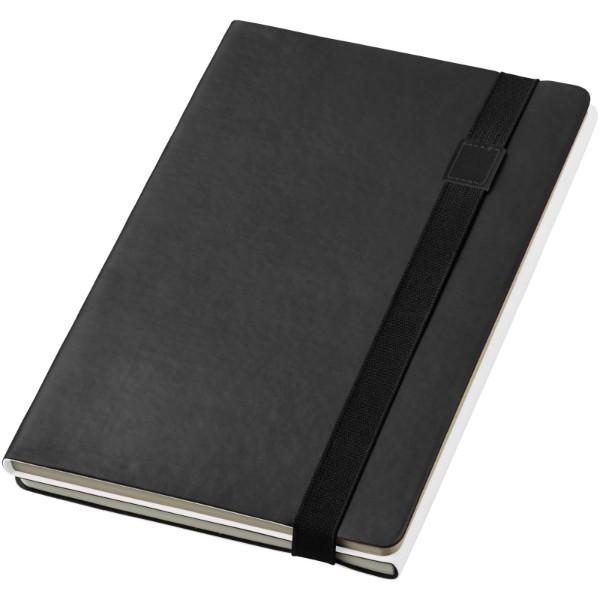 Zápisník s měkkou obálkou A5 Doppio - Černá / Bílá