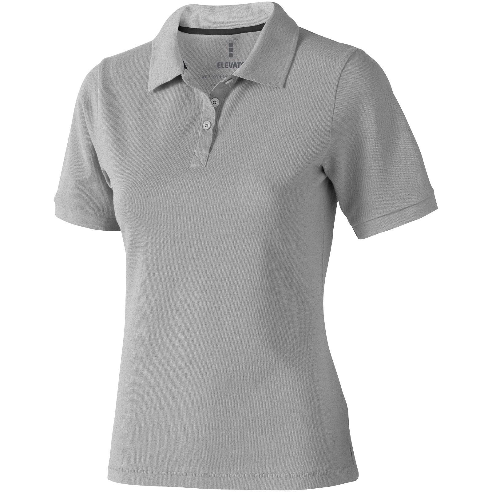 Calgary short sleeve women's polo - Grey Melange / S
