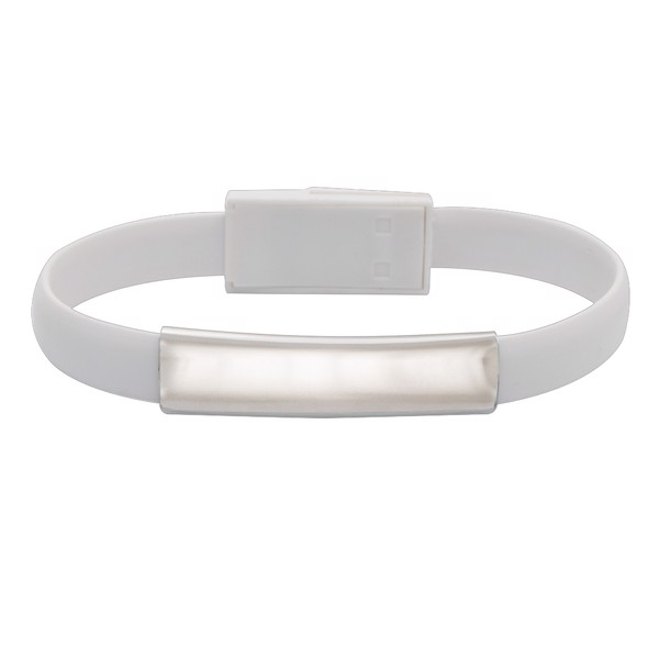 Bransoletka Wristlie USB typu C - Biały