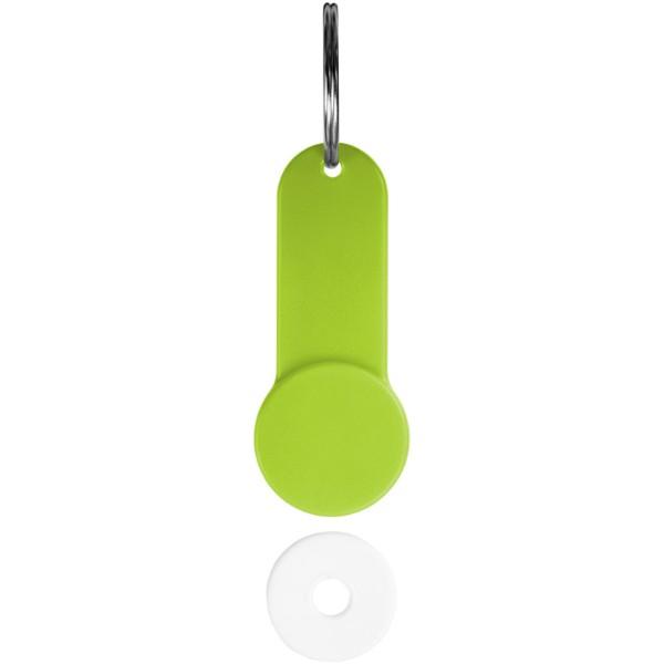 Shoppy coin holder keychain - Lime