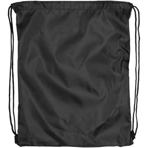 Peek zippered pocket drawstring backpack - White / Solid black