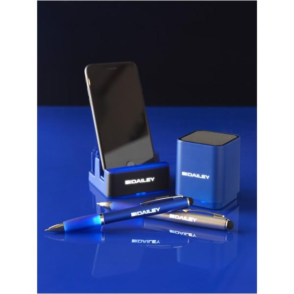 Osvětlený stolní stojánek Glint - Světle modrá