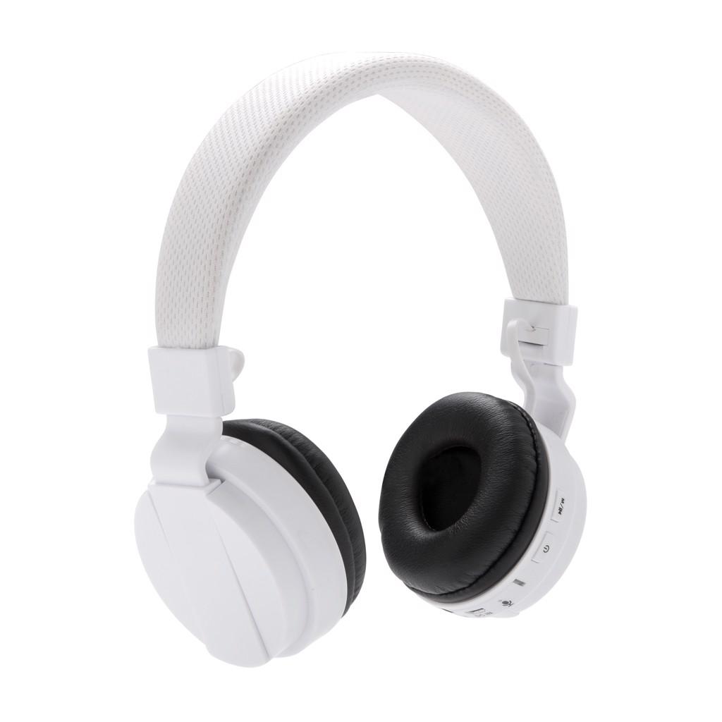 Skládací bezdrátová sluchátka - Bílá