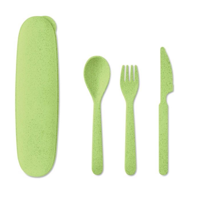 Cutlery set 3 pcs Siya - Lime