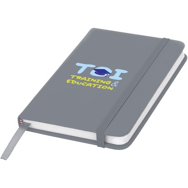 Zápisník s pevnou obálkou A6 Spectrum - Stříbrný