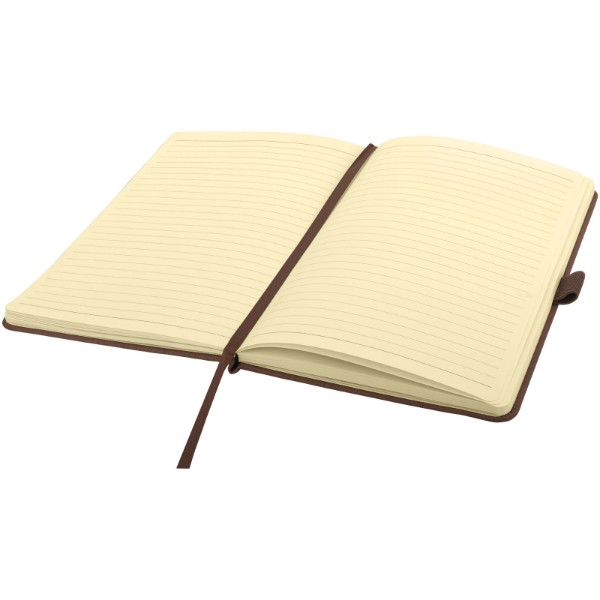 Wood-look A5 hard cover notebook - Brown
